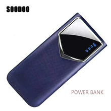 SOODOO 10000mah Power Bank External Battery PoverBank LED Light Powerbank Portable Mobile Phone Charger for Xiaomi MI Iphone XS