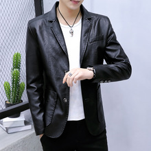 2020spring new sheepskin leather jacket youth business casual suit jack