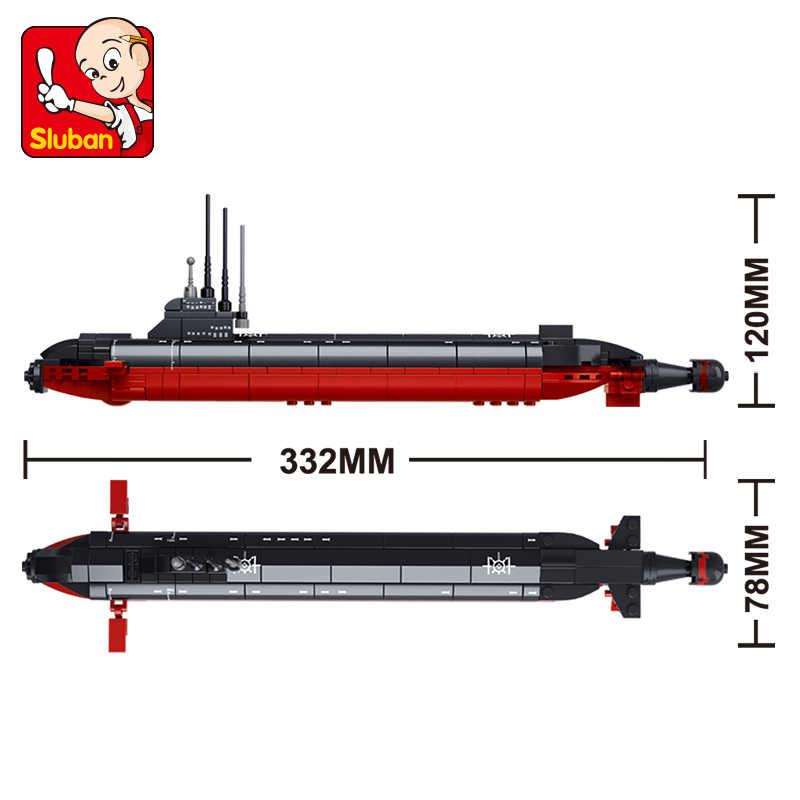 SLuban 0391 193PCS EINE kern submarine 3D DIY Figuren Geburtstag Weihnachten Geschenke lepinings spielzeug für kinder educational building