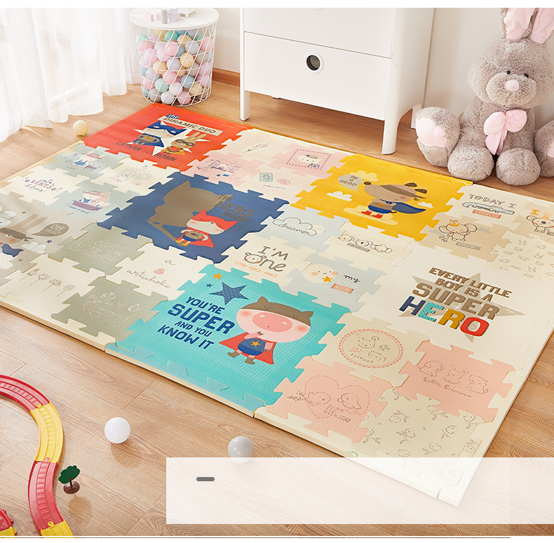 H57cc7036e6d2469fbf8e06449cf6dc08A BabyGo Puzzle Baby Play Mat XPE Foam Waterproof 2cm Thickened children's Carpet Crawling Pad Living Room Activity Floor Mat