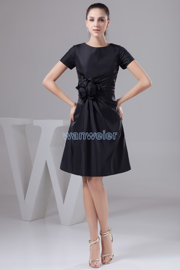 Free Shipping 2018 New Design Hot Gown Good Quality Custom Size/color Short Sleeve Cap Sleeve Black Mother Of The Bride Dresses
