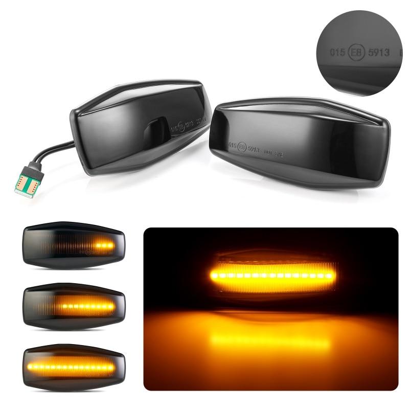 High Quality 2Pcs For Hyundai Flowing Indicator Plug Play Streamer LED Side Marker Turn Signal Light For Elantra Getz XG Tucson