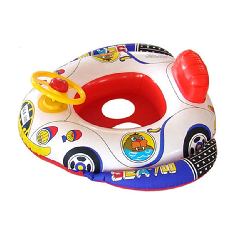 Mini Swimming Rings Cute Floating Bath Toys Float With Steering Whee  Baby Wash Swimming For Baby Toy Playing Water Toys/Infant