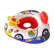 Mini Swimming Rings Cute Floating Bath Toys Float with Steering Whee  Baby Wash for toy Playing Water Toys/Infant