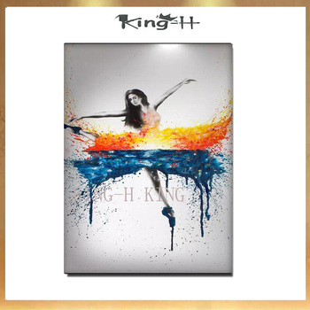 Handmade Anna.Razumovskaya Flamenco Spanish Woman Heat Dancing Dancer Oil Painting On Canvas Flamenco Dancing Oil Paintings