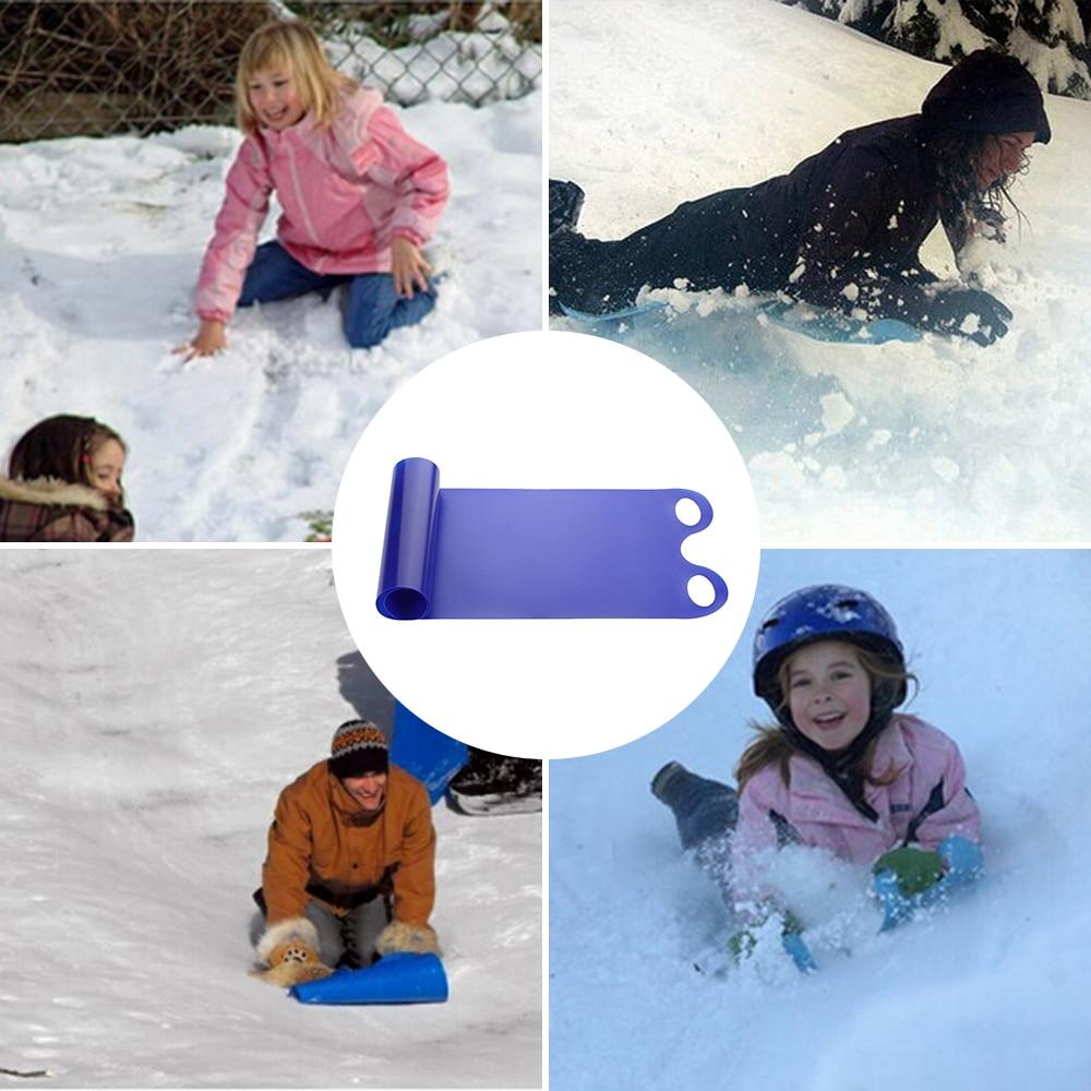 Kids Ski Piece Sled Pad Snowboard Ski Toboggan Skiing Durable Thickened Ski Board Sport Tools Snow Sled Winter Children Gifts