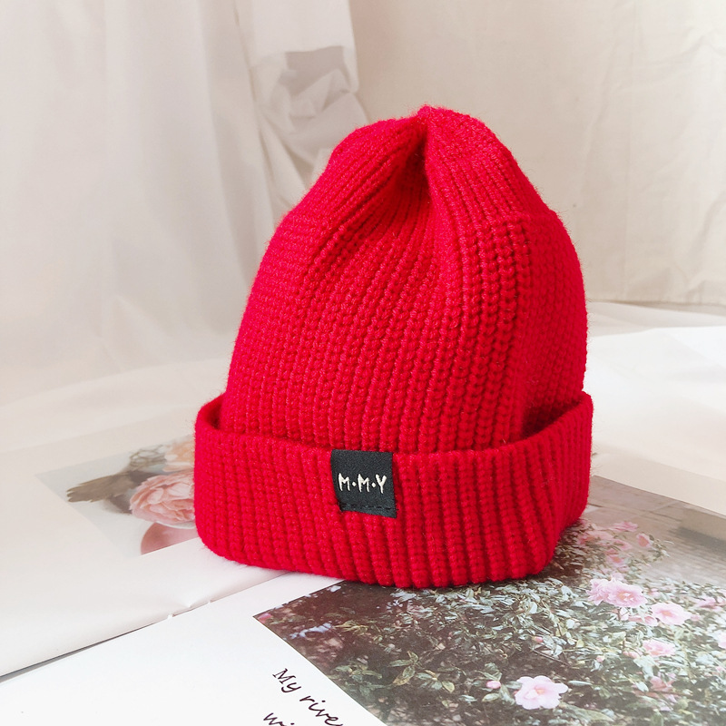Autumn Winter Hats South Korean Children's Skullies Beanie Warmth Hat Letters Boys And Girls Knitting Leisure Pullovers Caps