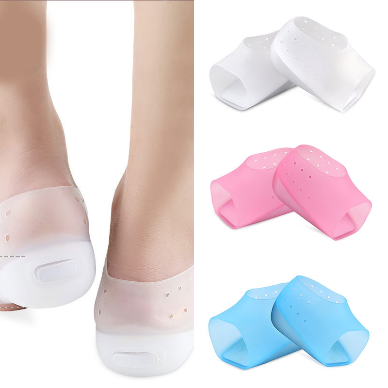 1 Pair Solid Color Invisible Height Increase Socks Soft Heel Pads Silicone Insoles Foot Care Protector High Quality