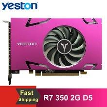 Yeston R7 350 2G D5 6 COMPUTER-TV-ANSCHLUSSKABEL MINIDP 6-bildschirm Grafikkarte Unterstützung Split Screen 750/4000MHz 2G/128bit/GDDR5 mit 6 Mini DP Ports