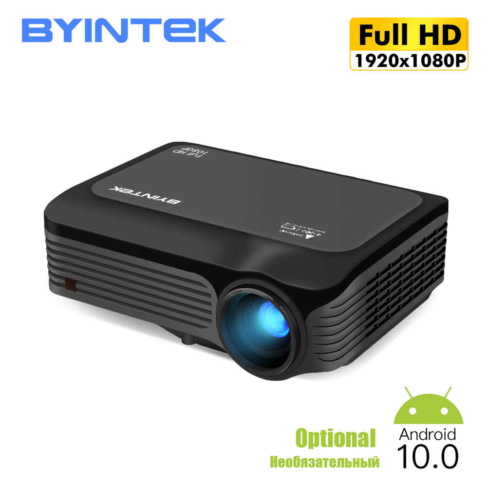BYINTEK K18 Led HD 4K Proyektor 1080P Beamer,LED Projector untuk Smartphone 3D 4K Cinema (Opsional Android 10 TV BOX)