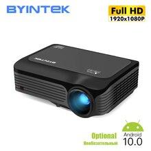 BYINTEK K18 Full HD 1080P 4KวิดีโอแบบพกพาLED LEDโปรเจคเตอร์Beamer Proyector (อุปกรณ์เสริมAndroid TV 10สำหรับสมาร์ทโฟน)