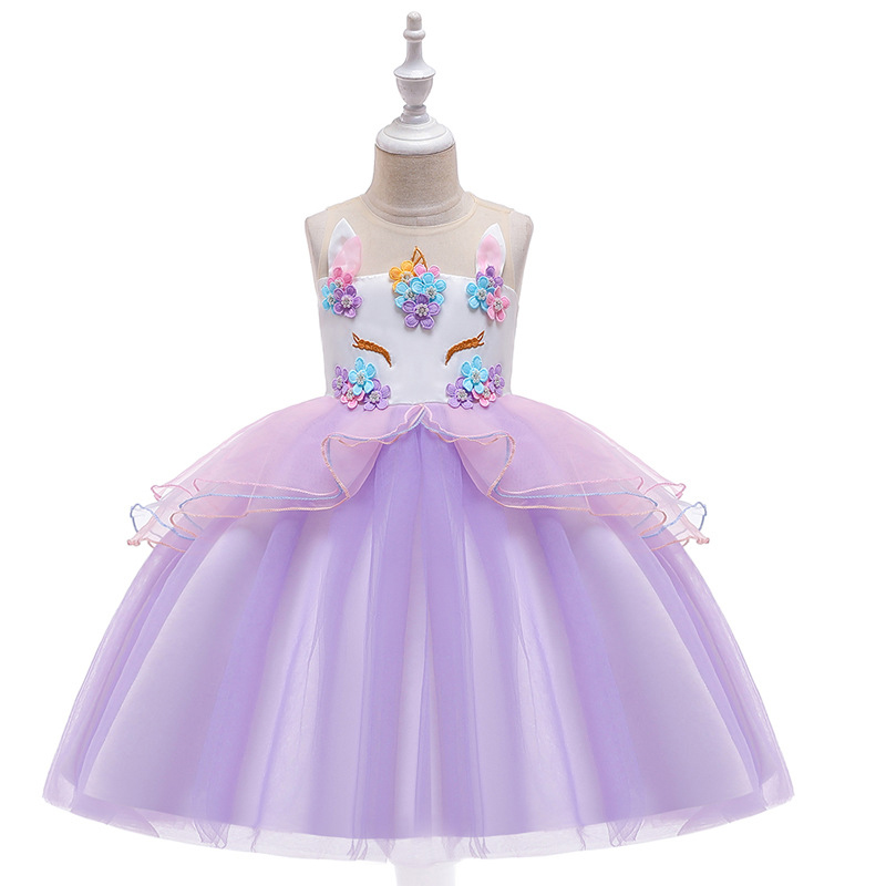 Girls Party Dress 4-12 Years Teenagers Princess Dresses For Girl Party Costume Kids Cotton Party Girls Clothes Performance Wear 1
