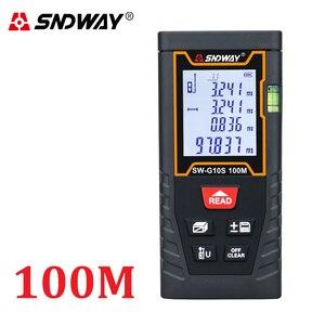 Image 2 - Sndway medidor de distância a laser faixa medida 120m 100m 80 70m 60 50m 40m laser roleta telêmetro caça localizador régua