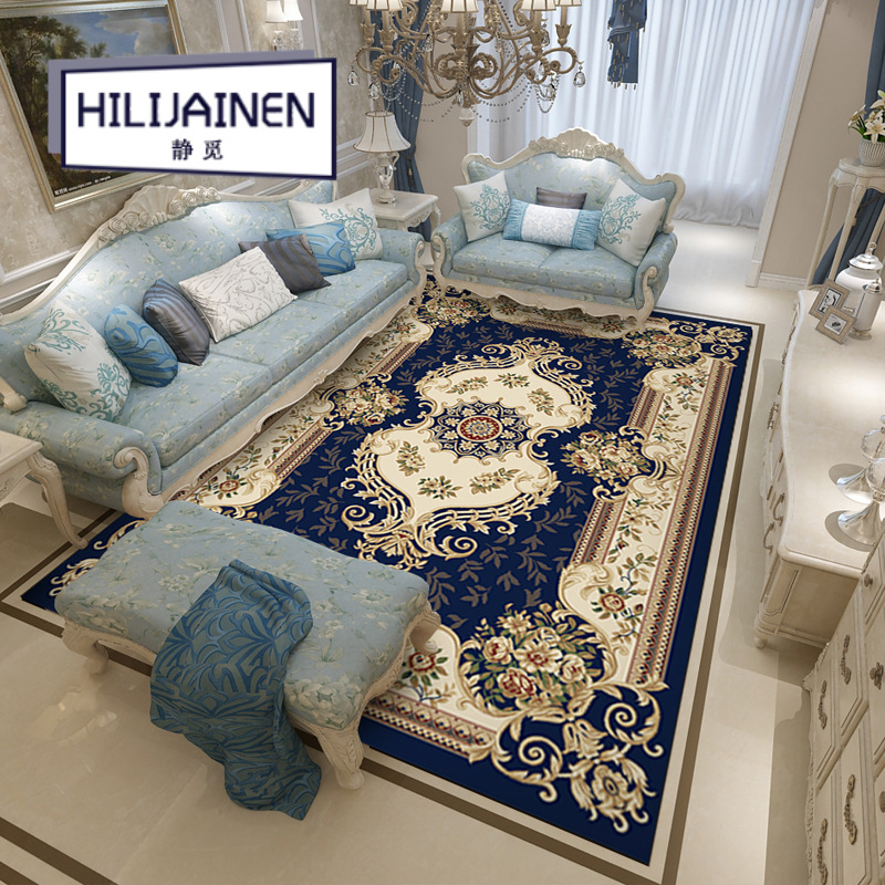 2019 nouveau salon européen antidérapant tapis chambre pleine de canapés nordique grand tapis chambre familiale américain thé table tapis