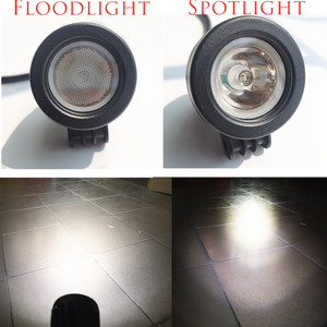 Image 2 - QIPO 1Pair 10w Motorcycle Led Headlight Work Light Offroad SUV Lights Spot/flood 12v 4x4 ATV Auxiliary Motor Fog Driving Lamp