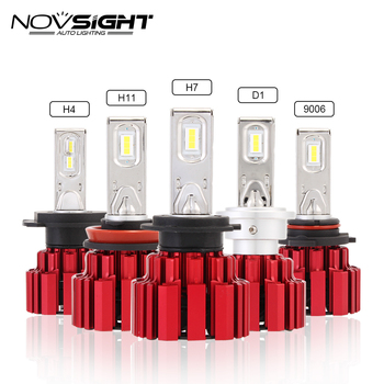NOVSIGHT 6000K H4/9003/HB2 Car Headlight Dual Beam LED D1 H7 H11 H15 13600LM Driving 9005 9006 80~86W Fog Light Lamps Bulbs D45