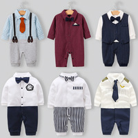 2019 baby clothing spring and autumn newborn full moon long sleeve cotton romper male baby ins explosion models jumpsuit