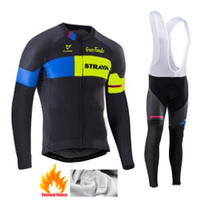 Winter Thermal Fleece Cycling Jersey Set 2020 STRAVA Maillot