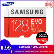 SAMSUNG новые карты памяти Micro SD карты EVO + 128 ГБ 64 ГБ 32 ГБ 95 МБ/с. 100 МБ/с. C10 SDHC SDXC U1 U3 карты памяти 64 г 32 г 100% Оригинал карта карта памяти для телефона ...