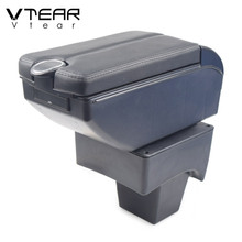 Vtear for Suzuki VITARA Brezza accessories car armrest leather storage box center console arm rest interior parts styling 2016
