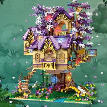 Creator Expert Sakura Dreamlike Tree Houses 2242 Pcs 86011 Moc Moduler Building Blocks Bricks Street