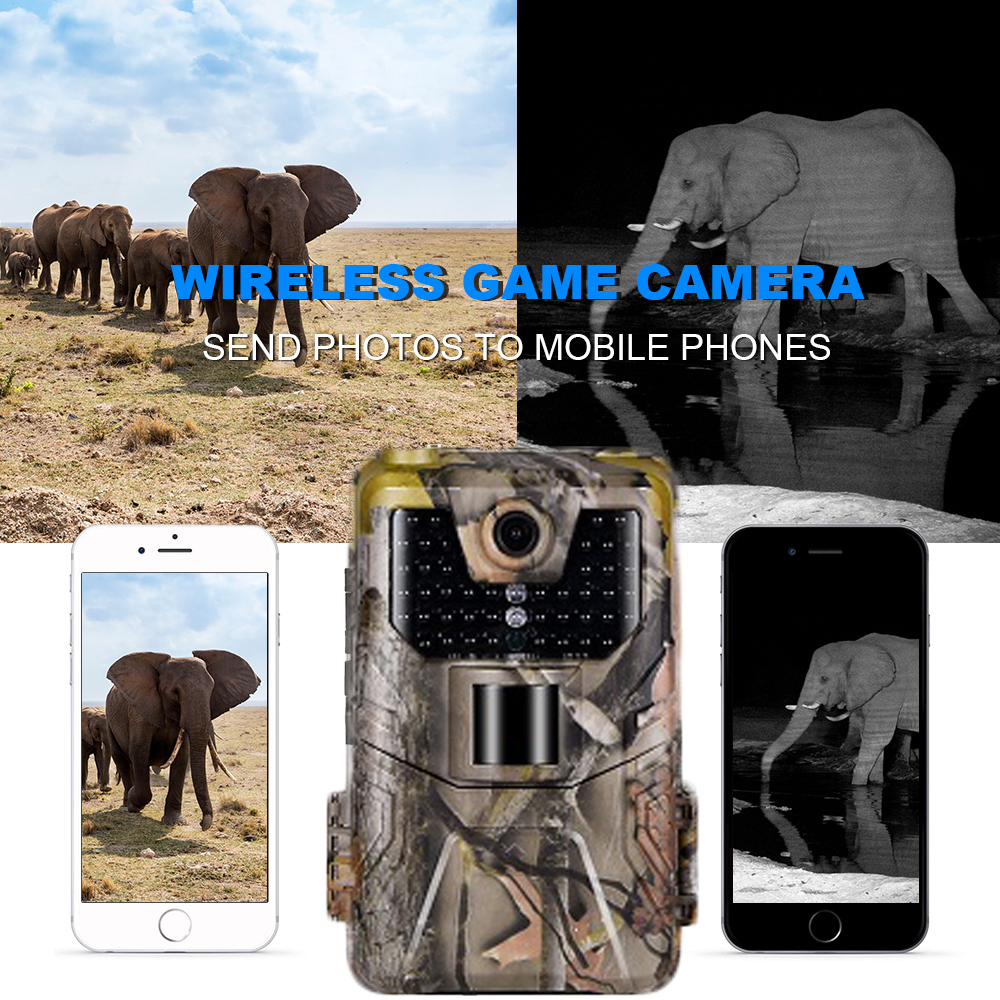 20MP 1080P 2G SMS MMS SMTP Wildlife Trail Kamera Foto Fallen Nachtsicht E mail Cellular Jagd outdoor Kamera überwachung - 4