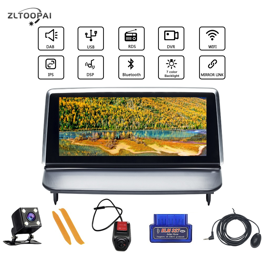 Android 10.0 Car Multimedia Player Auto <font><b>Radio</b></font> GPS Navigation For <font><b>VOLVO</b></font> <font><b>S40</b></font> C30 2006-2012 Car Player Stereo BT DSP RDS Navi New image