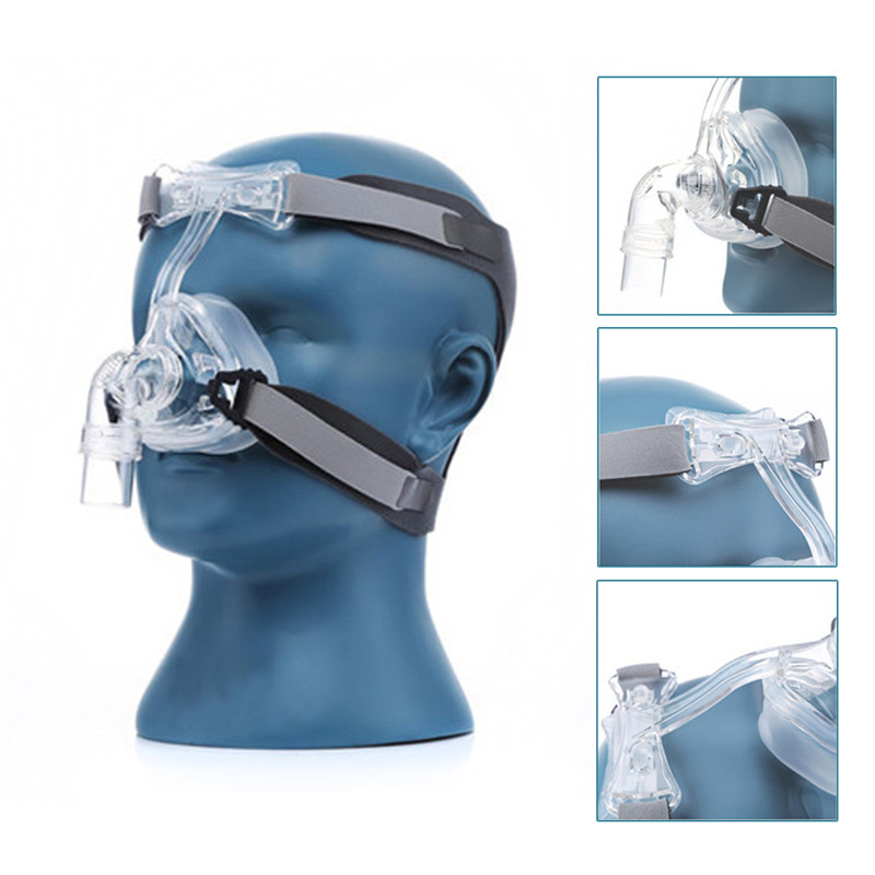 Full Face CPAP Mask Auto with Adjustable Headgear Strap Clip for Sleep Apnea Patient 24