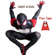 Nieuwe 2020 Volwassen Kids Cosplay Kostuum Zentai Superhero Black Bodysuit Pak Jumpsuit