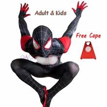 Yeni 2020 yetişkin çocuklar Cosplay kostüm Zentai süper kahraman siyah Bodysuit takım tulum