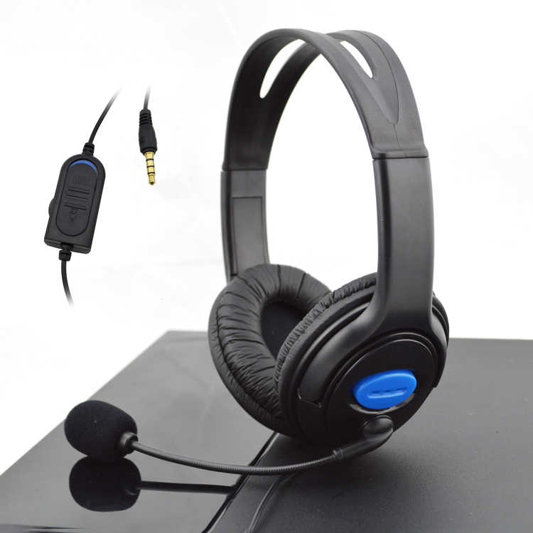 新 3.5 ミリメートル有線ヘッドフォンゲーミングゲヘッドセットゲーム用 PS4 プレイステーション 4 × ボックス 1 pc