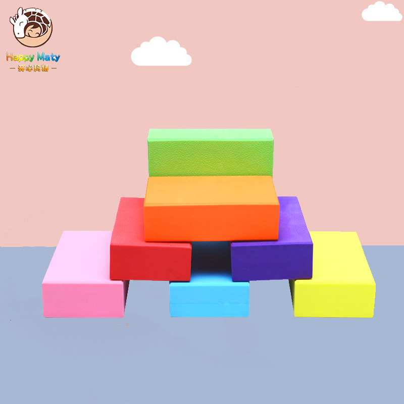 2pcs/set KindergartenTouch The Stone Across River Brick  Fun Games Props Kids Indoor Outdoor Teamwork Banlance Training Sports
