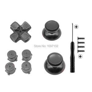 Image 4 - PS4 الإبهام قبضة معدنية الإبهام قبضة الألومنيوم استبدال ABXY رصاصة أزرار Thumbsticks كروم D الوسادة لسوني بلاي ستيشن 4