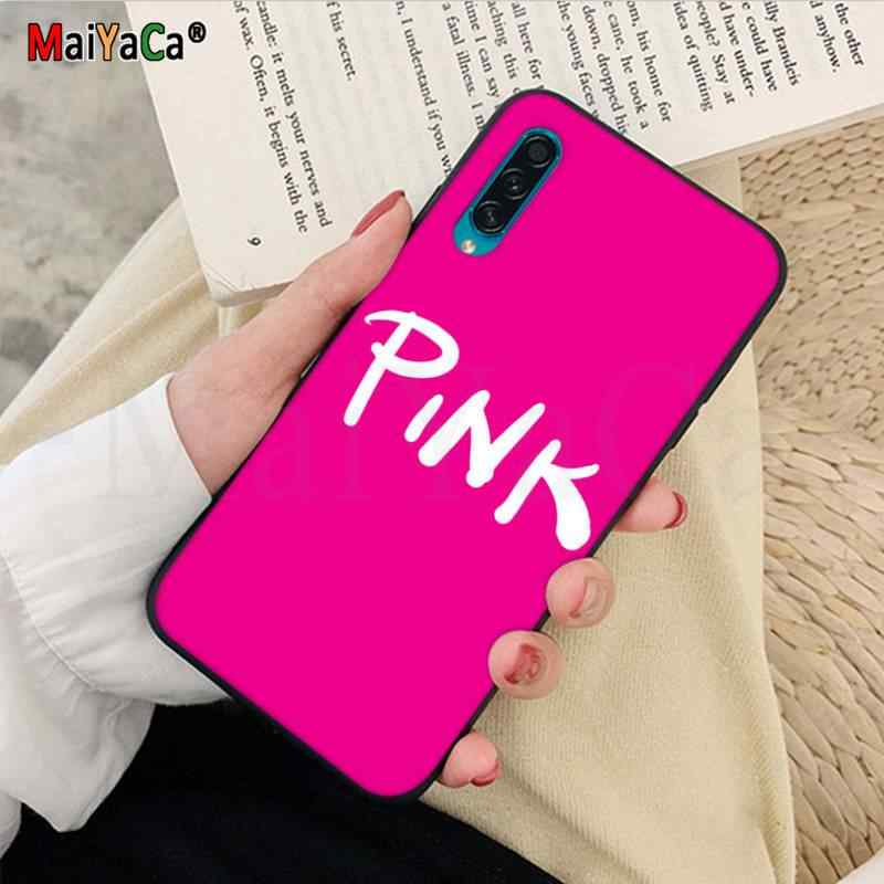 Maiyaca Cinta Merah Muda Ponsel Case Penutup Shell UNTUK Samsung J5 J72016 Pro J7 J8 2018 J7plus J7 Prime A10 50 S 10 S 20 S 30 S A9 2020