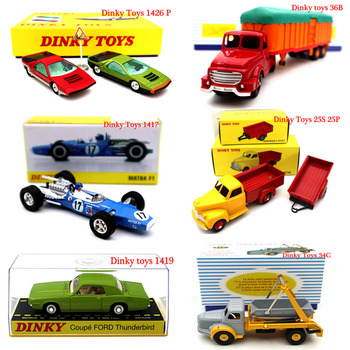 Atlas Dinky zabawki seria ciężarówka urządzenie inżynieryjne samochód wyścigowy wóz strażacki modele Diecast kolekcja prezenty
