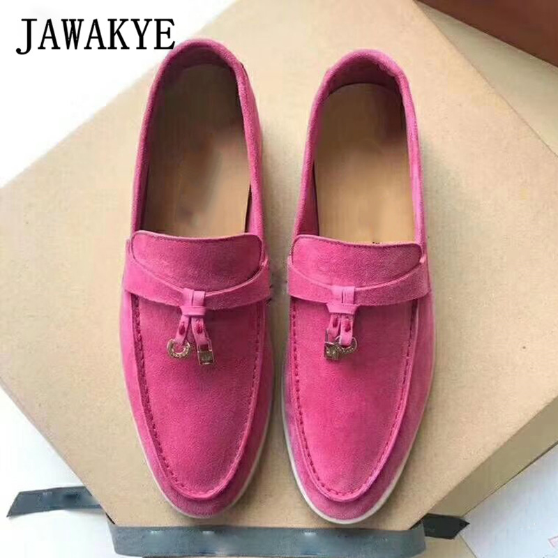 JAWAKYE-Multicolor-Real-Leather-Suede-Comfortable-flat-Shoes-for-Women-Round-Toe-metal-lock-Decoration-Causal (1)