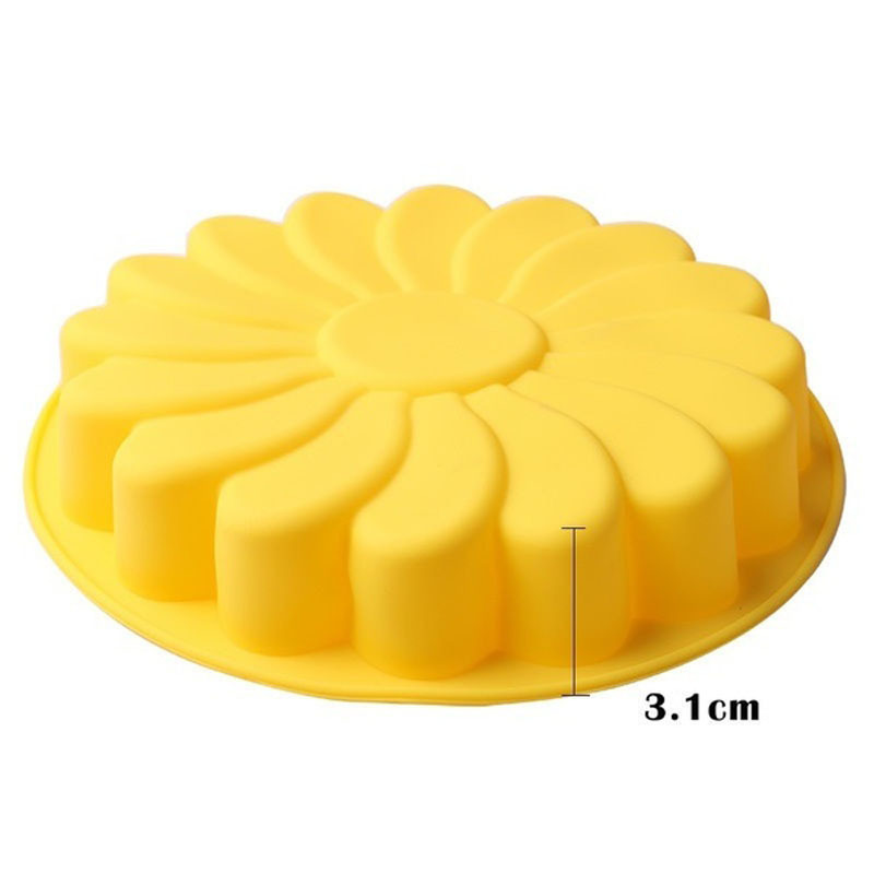 3D Fondant Silicone Sunflower Baking Tin 1
