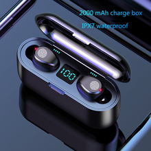 Bluetooth Earphones 50 TWS Mini Wireless Headset Power Display Earphone with charging box Sports Earbuds Gaming