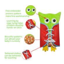 Игрушки Монтессори для детей обучающая игрушка сова детские