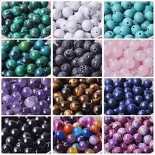 Runde 4mm 6mm 8mm 10mm 12mm Natürliche Stein Rock Lose Spacer Perlen lot für Armband schmuck, Die Entdeckungen DIY Handwerk