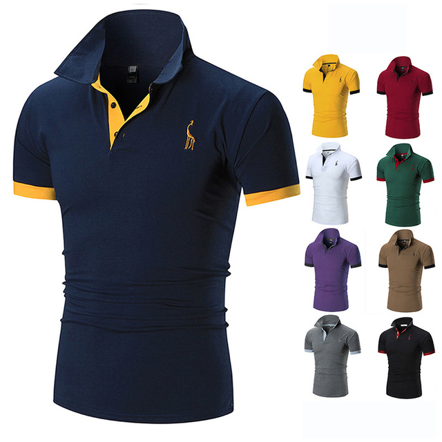 men's polo shirts casual short sleeve polo shirt men fashion embroidery Business men's clothing thin summer polo shirt men