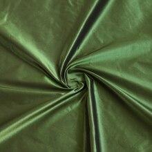 100*140Cm 2 Tone Zijde Taffeta Vormige Groen Zwart Stof Voor Jas Avondjurk