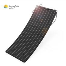 Panel słoneczny 100w 200w elastyczny panel słoneczny wykonany z materiału ETFE elastyczny panel słoneczny ETFE do ładowarki 12V tanie tanio Singfo Solar 1050X540X2 5mm BPS-32 Monocrystalline Silicon color black mono solar cell Voc(V) 21 70 Isc(A) 6 10