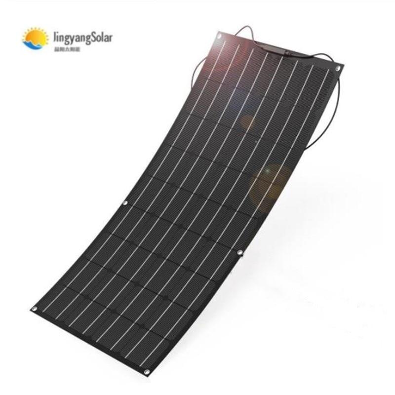 Painel solar 100w 200w 18v 24v, painel solar flexível feito de material etfe, painel solar flexível etfe para carregador de bateria 12v