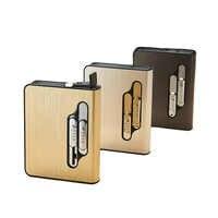 Encendedor de cigarrillos de tungsteno, mechero electrónico personalizable con 10 varillas, con estuche de carga USB y mechero