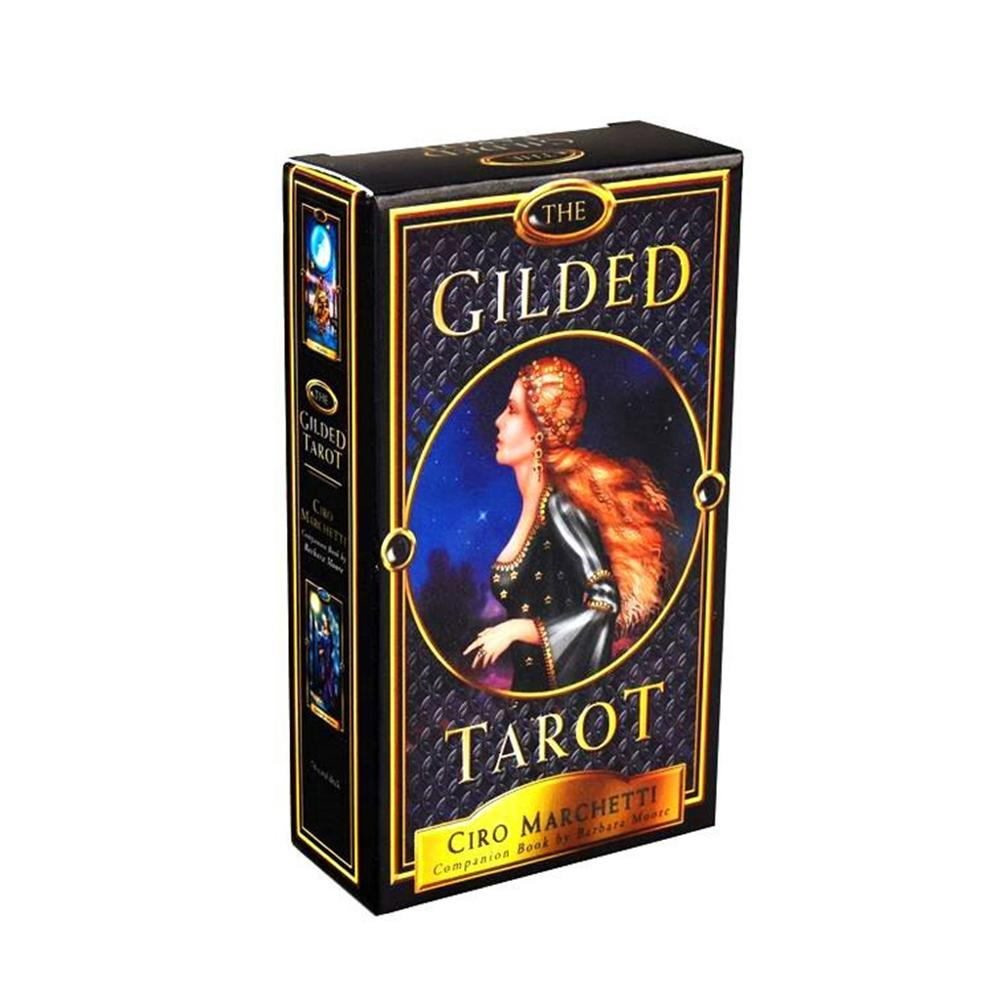 The Gilded Tarot 78 Cards Deck And Electronic Guidebook Tarot Game Party Board Game Oracle Card