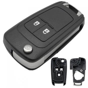 2 przyciski obudowa kluczyka do samochodu wymiana powłoki odwróć składany futerał na pilota zdalnego sterowania dla opla Vauxhall Astra Insignia Vectra Corsa Zafira tanie i dobre opinie CN (pochodzenie)