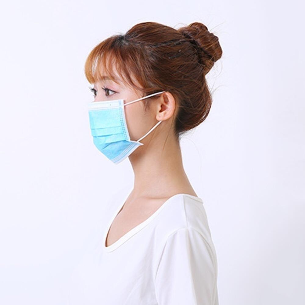 Image 4 - 5/10/20/50pcs 3 layer Disposable Non Woven Masks Filter Medical  Dustproof PM2.5 Mouth Nose Anti Coronavirus face Masks FFP3  -