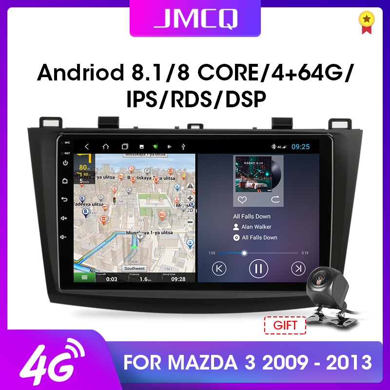 JMCQ 2 din Android 8.1 Car Radio Multimedia Player For <font><b>Mazda</b></font> <font><b>3</b></font> 2009-2013 maxx axela DSP <font><b>Navigation</b></font> <font><b>GPS</b></font> 2din Auto Stereo For BOSE image