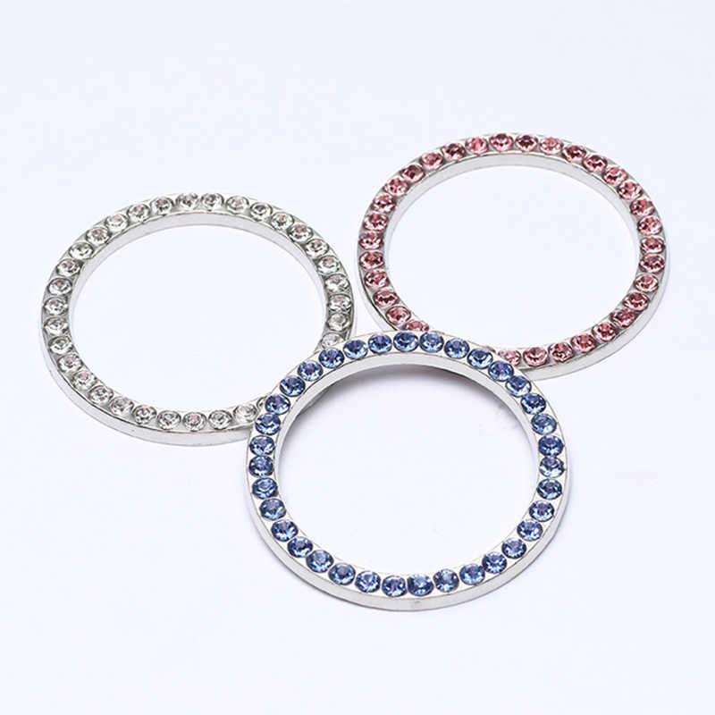 Diamant clé de voiture bouton de démarrage anneau décoratif pour Bmw E46 E90 E60 E39 E36 F30 Lada Granta Chevrolet Cruze Lacetti Lexus